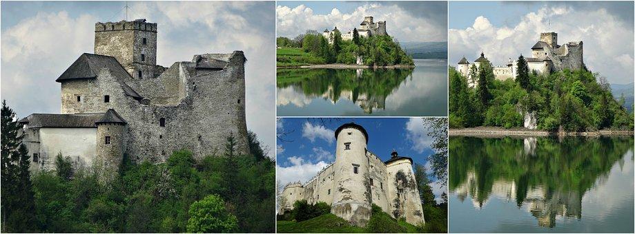Collage, Castle, Niedzica, History, Monument, Poland