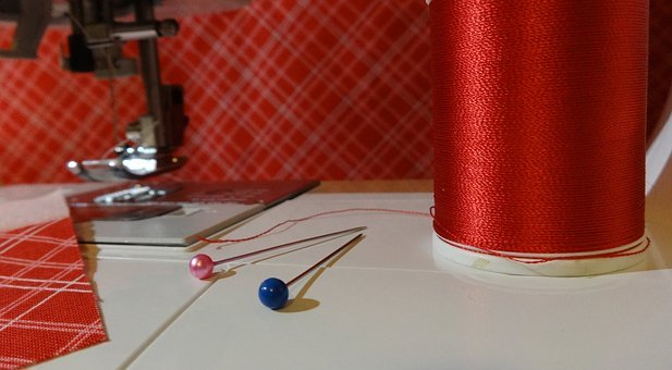 Sewing, Sewing Machine, Sew, Thread, Spool, Material