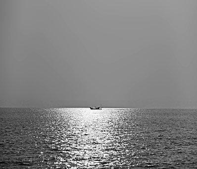 Sea, The Sea, Fishing Boats, Ship, The Scenery, Natural