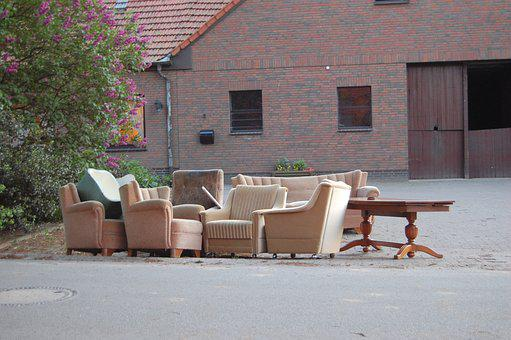 Bulky Waste, Sofa, Furniture, Living Room, Couch