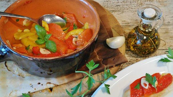 Grilled Vegetables, Paprika, Bruschetta, Food, Italian