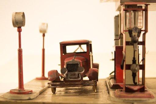 Gas Pump, Vintage, Old, Antique, Car, Toy, Retro, Gas