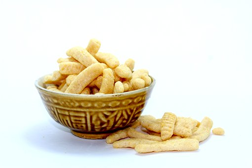 Chip, Crisp, Pack, Snack, Bowl, Tureen, Isolated, Heap