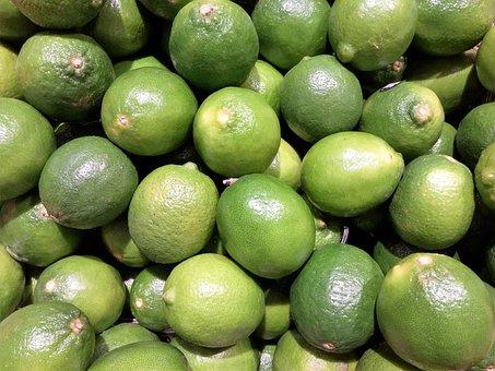 Fruit, Lime, Oranges, Market Stall, Fruits