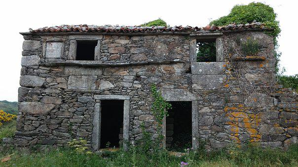 House In Ruins, House Abandoned, Old House, Field