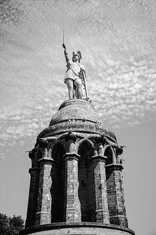 Monument, Hermann Memorial, Teutoburg, Statue, Germane