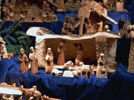 Bremen Christmas Market, Nativity In Bethlehem, Wood