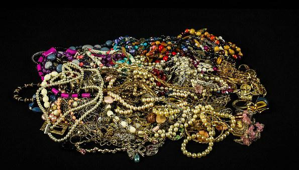 Jewelry, Treasure, Pearls, Beads, Gems, Gold, Silver