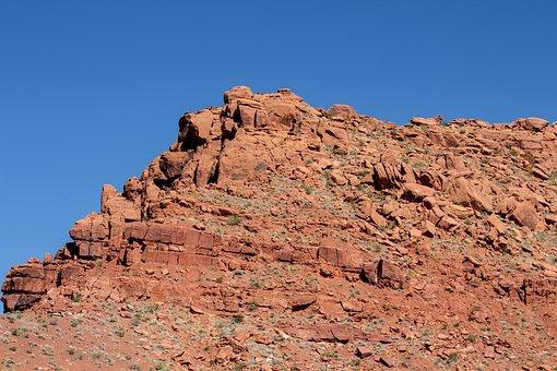 Red Cliff, St George, Utah, Blue, Sky, Sandstone