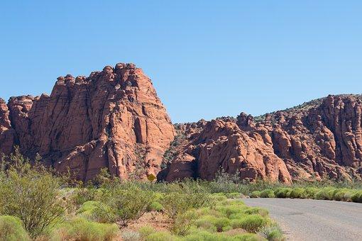 St George, Utah, Red, Cliff, Rock, Desert, Sky