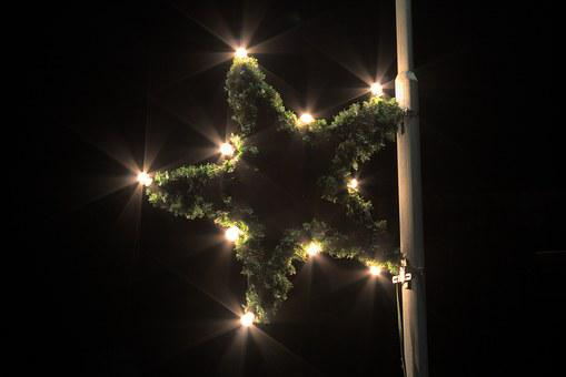 Star, Poinsettia, Lighting, Christmas, Christmas Market