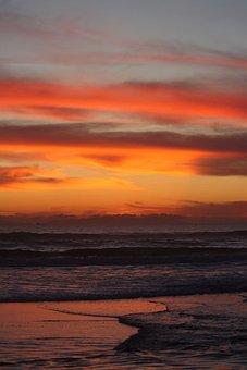 Sunset, Beach, California, Ocean, West, Coast, Pacific