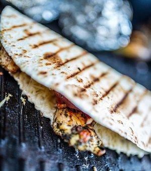 Grill, Barbecue, Tortilla, Quesadilla, Cheese, Bacon