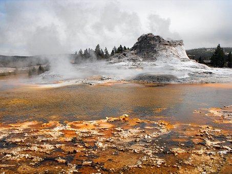 Old Geyser, Water, Park, Geyser, Yellowstone, Old