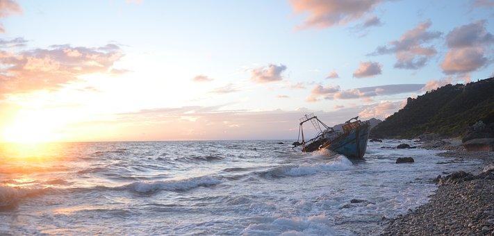 Wreck, Ship, Shipwreck, Boat, Old, Rusty, Coast