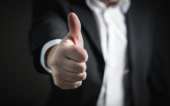 Businessman, Thumbs Up, Success, Hand, Business, Man