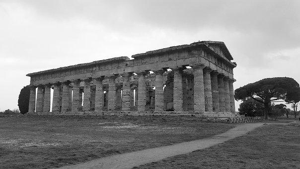 Temples, Paestum, Ca, Greek Temples, Monument, Campania
