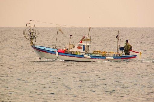 Fishing Boat, Traditional, Fishing, Departure