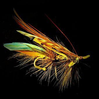 Salmon Fly, Fantasy, Brooch, Jewelry Fly, Fly Fishing