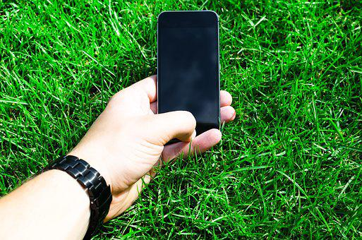 Hand, Grass, Phone, Green, Telephone, Mobile, Screen