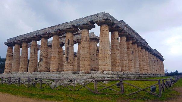 Paestum, Temples, Greece, Heritage, History, Antiquity