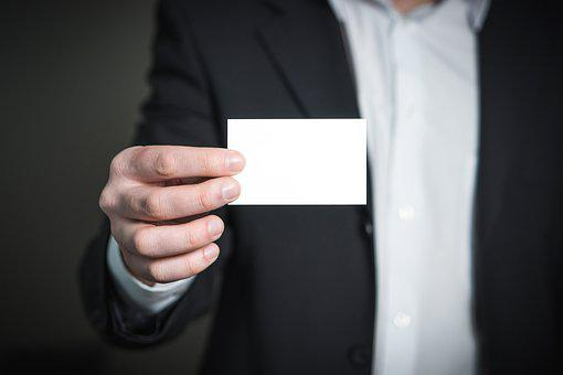 Business, Card, Man, Holding, Hand, Suit, Meeting, Hold