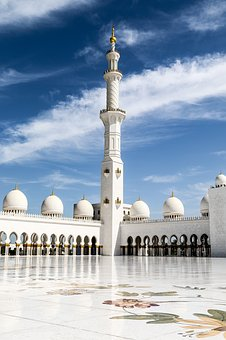 Mosque, Abu Dhabi, White Mosque, Sheikh Zayid Mosque