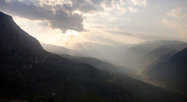Delphi, Mountains, Ancient, Mystical, Oracle, Greece