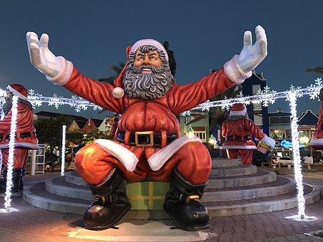 Santa Claus, Nicholas, Embrace, Christmas Motif