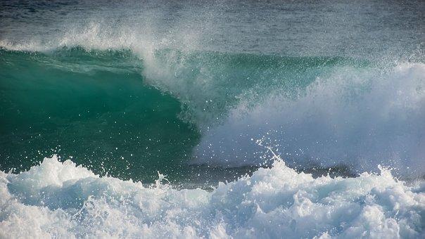 Wave, Smashing, Spray, Foam, Drops, Liquid, Wind