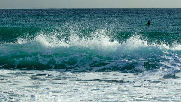 Wave, Smashing, Spray, Foam, Wind, Spectacular, Sea