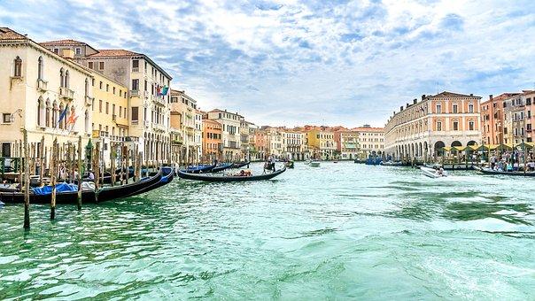 Travel, Holiday, Venice, Gondolas, Canal Grande