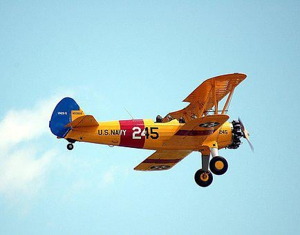 Vintage Aircraft, Flying, Flight, Bi-plane, Airshow