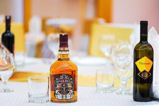 Table, Restaurant, Glass, Drink, Brandy, Whiskey