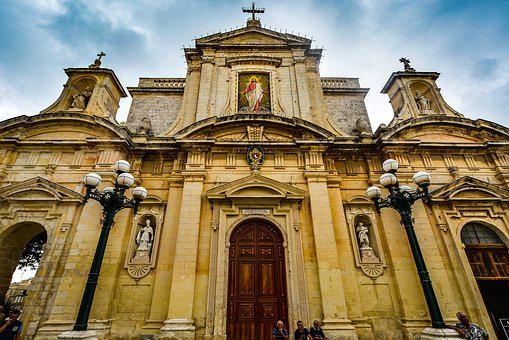 Malta, Mdina, Cathedral, Mediterranean, City, Church