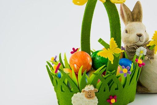 Easter, Basket, Easter Eggs, Color, Egg, Colorful