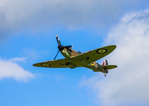 Plane, Spitfire, War, Fighter, Airplane, Military