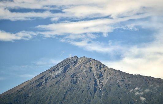 Mountain, Volcanic Mountain, Mount Meru, Meru, Arusha