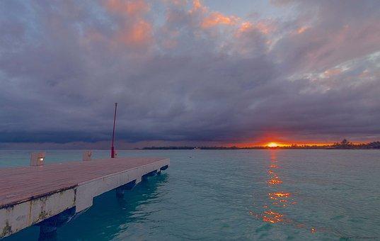 Beach, Port, Sea, Sun, Coastal, Blue, Landscape, Spring