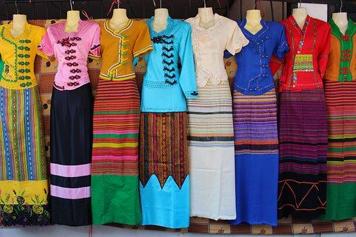 Dresses, Thai Style, Thai, Style, Thailand, Female