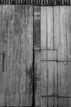 Barn, Goal, Scheuer, Old Gate, Scale, Weathered