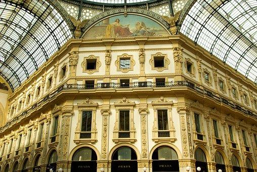 Italy, Milan, Gallery, Canopy