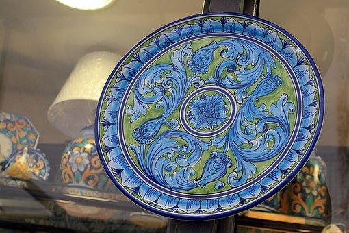 Porcelain, Plate, Hand Painted, Decoration, Ceramics