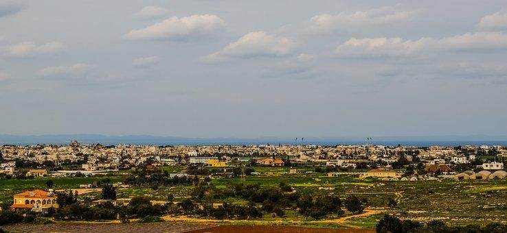 Cyprus, Paralimni, Town, General View