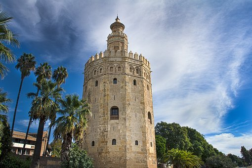 Tower, Gold, Seville, Spain, Andalusia, Monuments
