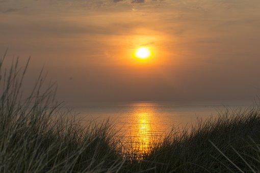 Sun, Sunset, Setting Sun, Water, Sea, Landscape, Nature