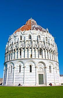 Baptistery, Pisa, Italy, Tuscany, Monument, Works