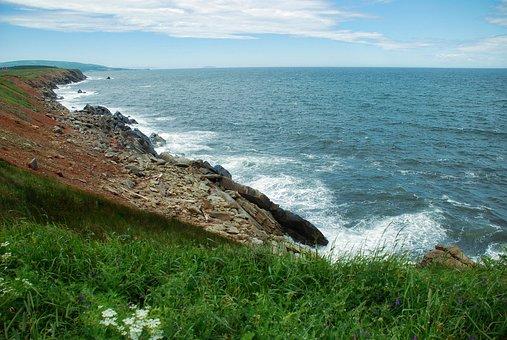 Ocean, Atlantic Ocean, Crag, Cliff, Coast, Shore