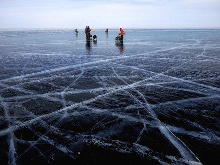 Icy, Ice Rink, Lake, Winter, Baikal, Siberia, Russia