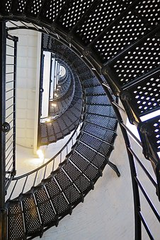 Stairs, Lighthouse, Steps, Architecture, Spiral